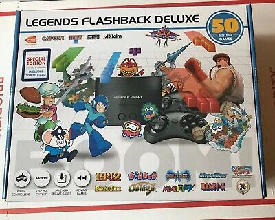"Legends Flashback Deluxe Game Console with Bonus SD Card - 50 Games ""NEW"""