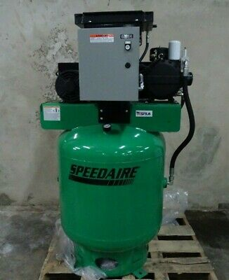 Speedaire Rotary Screw Air Compressor 3 Phase 7.5Hp 90 Gallon 40Hu42 New Scratch
