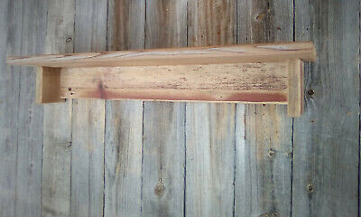 Barn Wood Rustic Country Primitive Wall Shelf Barn Red Farm House Patina N2