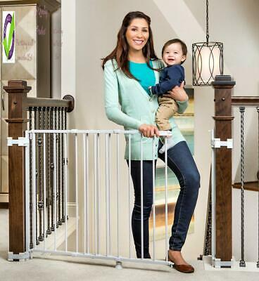 Regalo 2-In-1 Stairway And Hallway Wall Mounted Baby Gate, Bonus Kit, Includes B