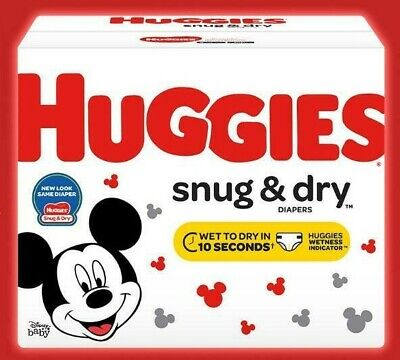 HUGGIES Snug & Dry Disposable Diapers Size 6 (35+lbs.) *2 day ship *Choose Count