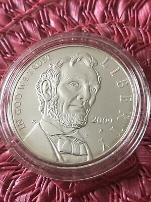 2009 Abraham Lincoln Uncirculated Silver Dollar