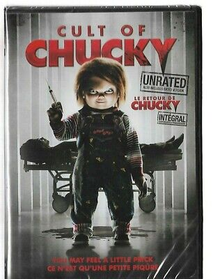 Sealed NEW DVD - CULT OF CHUCKY - Also In French - Unrated And Rated Version