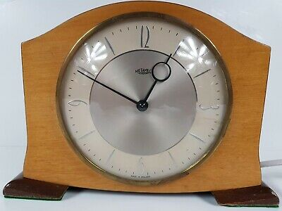 A 1950s Metamic Made In England Mantle Clock Interior Decorator Piece $20 START