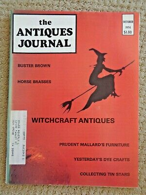 Antiques Journal 1974 Witchcraft Wiccan Halloween Occult Drums Costumes Knives