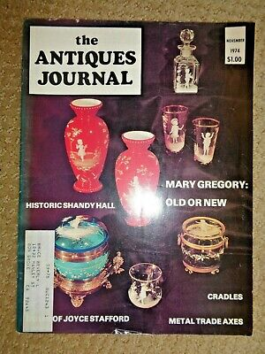 Antiques Journal 1974 Joyce Stafford Dolls Tomahawks Metal Axes Hatchets Cradles