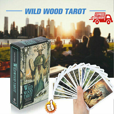78Pcs Cards Wild Wood Tarot Cards Beginner Deck Vintage Fortune Telling 2019