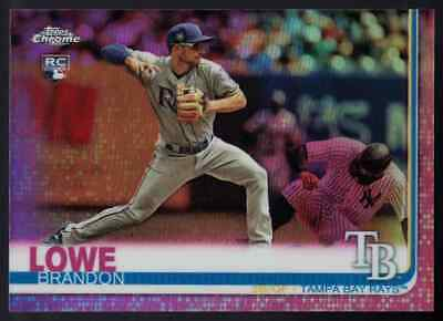 2019 Topps Chrome Pink Refractor Rookie RC Brandon Lowe Tampa Bay Rays
