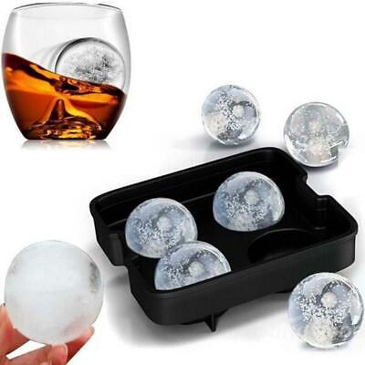 Large Ice Cube Tray Ball Maker Big Silicone Mold Sphere Whiskey Round Mould DIY