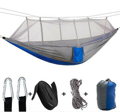Outdoor Camping Double Nylon Durable Tent Hanging Mosquito Net Hammock Bed