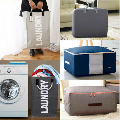 Premium Jumbo Laundry Bags Zipped Reusable Large Strong Shopping / Storage Bag