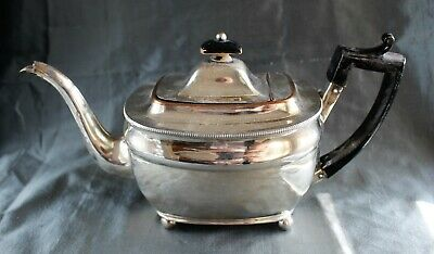 George III Period Neoclassical Old Sheffield Fusion Silver Plate Teapot c. 1810