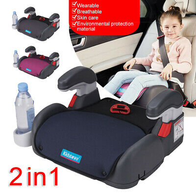 Gray Car Booster Seat Chair Cushion Pad For Toddler Children Child Kids AU