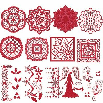 Christmas Noel Angel Frame Metal Cutting Dies Stencils For DIY Scrapbooking