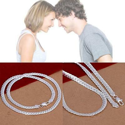 925 Sterling Silver 5MM Classic Snake Necklace Chain Wholesale Bulk Price New GG