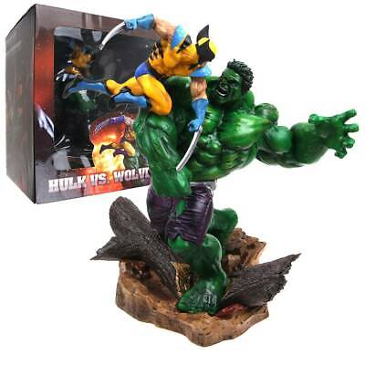 Marvel-Hulk Vs.Wolverine Figurine Maquette Statue Sideshow Action Figure Toy New