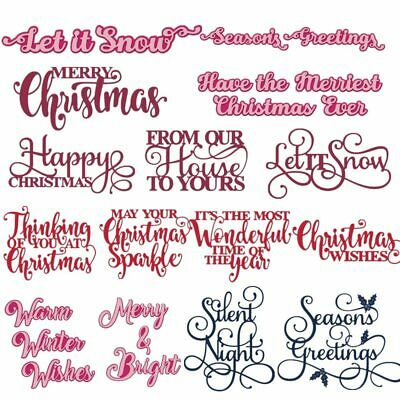 Merry Christmas Snow Letters Metal Cutting Dies Stencils For DIY Scrapbooking