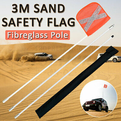 Sand Safety Flag 4WD Towing Offroad Touring 4x4 Simpson Desert Vehicle Warning
