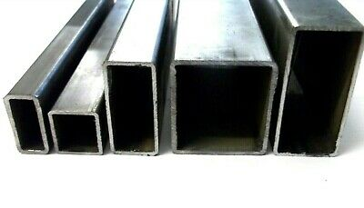 ERW Mild Steel. Box Section. Square or Rectangular. 1/2Inch -> 3Inch. 5 Lengths.