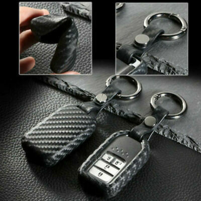 Honda Accord CR-V Fit HR-V Jazz Civic Carbon Fiber Car Key Case Accessories new