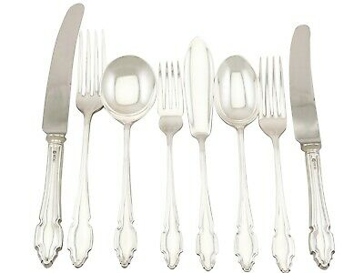 Vintage Sterling Silver Canteen of Cutlery for Twelve Persons