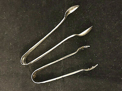 Hallmarked Walker & Hall 1925 Silver sugar tong plus one other $20 START