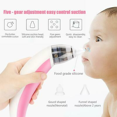 Baby Nasal Aspirator Electric Safe Hygienic Nose Cleaner Snot Sucker Portable