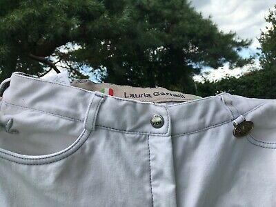 White womens jodhpurs, Laura Garrelli, very good condition, size 10, slim-fit
