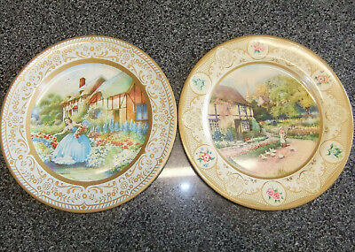 Vintage Collectable Willow Metal Plates