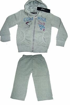 Girls Tracksuit Grey Love Dance Jog Set Hooded Top & Joggers Set.size:12Years