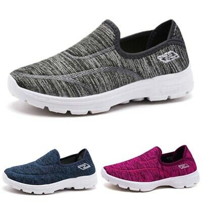Fashion Womens Ladies Casual Comfy Slip On Flat Shoes Pumps Trainer Loafers Size