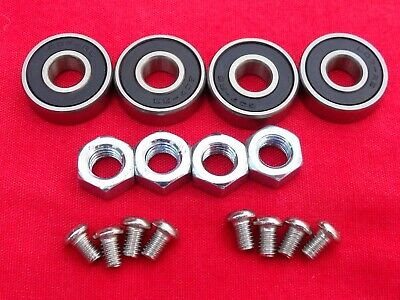 TWIN DELLORTO 40 DHLA CARBURETTOR SEALED SPINDLE BEARINGS TAPER SCREWS NUTS KIT