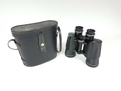 COLLECTORS: A Leather Cased Pair Of Prinzlux 10X50 Coated Binoculars. $1 START