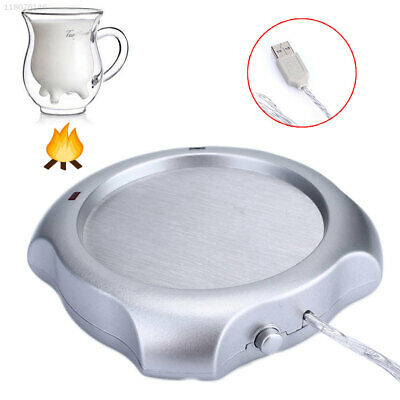 2AA1 Milk Heater Safe Portable Office Cup Tray Warmer 300mL 5V Light Weight