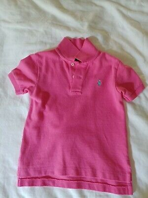 Lacoste Polo Shirt Boys 2T Toddler. Preppy Pink with Green Logo.