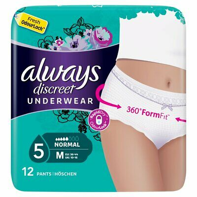 Always Discreet Incontinence Pants Normal - Medium - Pack of 12