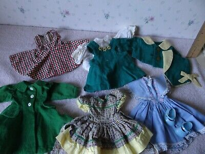 "Vintage Dresses, Clothing, Shoes for a 14"" Ideal Toni Doll Or Similar"