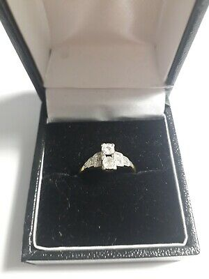 Art Deco 18ct Gold And Diamond Ring, Size Small, 2.3 Grams, Fully Marked