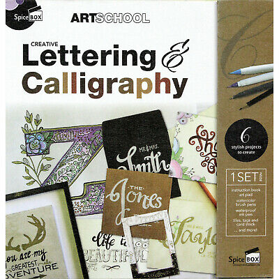 Creative Lettering and Calligraphy Kit - Includes Instruction Book and Supplies