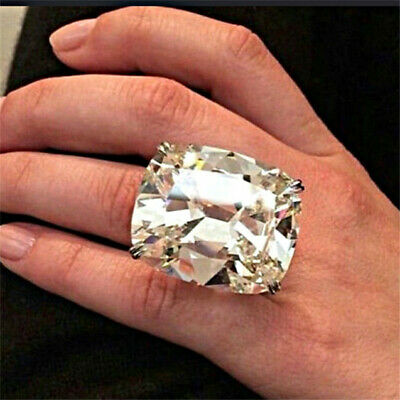Gorgeous 925 Silver White Topaz Band Ring Women Proposal Wedding Jewelry Sz6-10