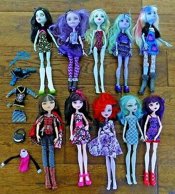 Lot 10 Monster High Dolls Clothes Accessories Shoes