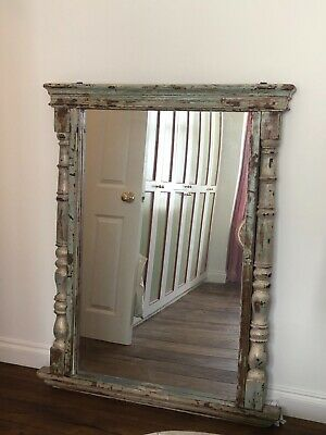 Stunning Antique Home Decor Wall Mount Reclaimed Wooden Mirror