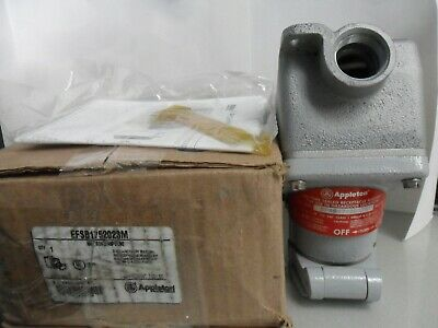 Appleton EFSB175-2023M Class B Explosion Proof Receptacle 20A 125V 2P3W Iron NIB