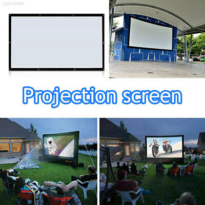 81D7 Projector Screen Durable Portable Courtyards Home Theater Churches Bar 4:3