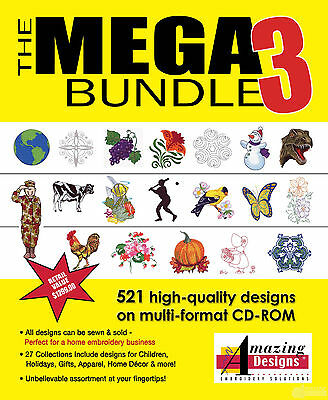Amazing Designs Mega Bundle 3 Machine Embroidery Designs Collection