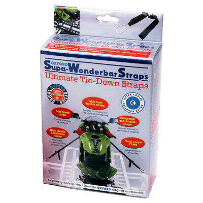 Oxford Super Wonderbar Motorcycle Motorbike Tie Down Straps Van Trailer OF100