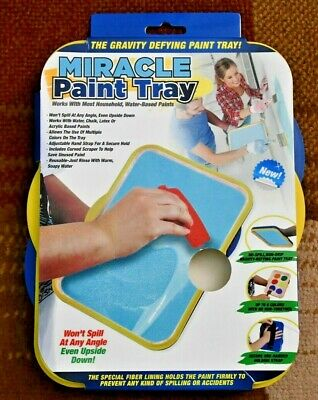 (5) Miracle Paint Trays (Wont Spill at Any Angle) Hand Held. New