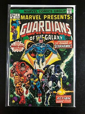 Marvel Presents 3 Guardians of the Galaxy Marvel 02/76 Gerber Marcos Milgrom A5
