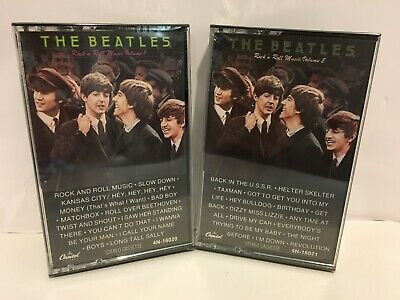 The Beatles Rock N Roll Music Volume I and II Cassette Tapes - NEW and SEALED