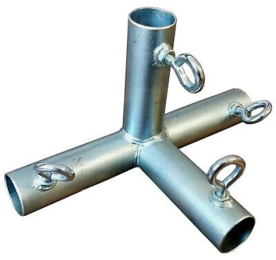 """Canopy Fittings 4-Way Corner Connectors Fitting for 1 3/8"""" Pipe"""